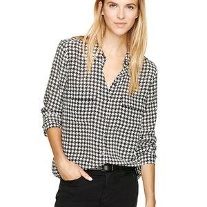 Babaton Peyton blouse houndstooth 100% silk